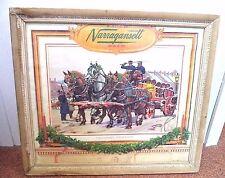 *RARE* VINTAGE NARRAGANSETT BEER XMAS HORSE SIGNED HAROLD BREUL LITHOGRAPH!!!