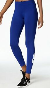 Nike Womens Leg-A-See Leggings Logo Waistband Spell-out Swoosh Size S