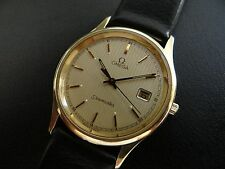 Authentic Swiss Made OMEGA Seamaster Classic Men's Watch~14K Solid Gold Case~WOW