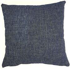 Handmade Navy Blue Woven Textured Home Decor Cushion Cover 45x45  New