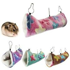 Hanging Tunnel for Small Animals Hamster Sugar Glider Hammock Cage Sleeping Bed