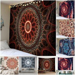Trippy Mandala Tapestry Wall Hanging Geometric Print Tapestries Throws Art Decor