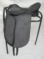 """""""New"""" Leather Dressage Treeless Saddle Black Size 16"""" 17"""" &18""""Horse Wear Saddles"""