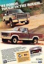 1981 Ford F-150 Truck and Bronco Original Advertisement Print Art Car Ad J421