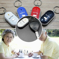 LED Anti-Lost Key Finder Find Locator Keychain Whistle Beep Sound Control Torch~
