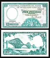 SCOTLAND £5 POUNDS 1959 NATIONAL COMMERCIAL BANK P 266. VF /* LARGE SIZE NOTE