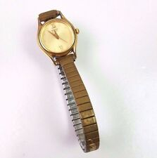 seiko watch vtg stretchy gold ladies petite NOT WORKING