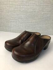 DANSKO Brown  Leather Clog Slides Wedge Shoes 40