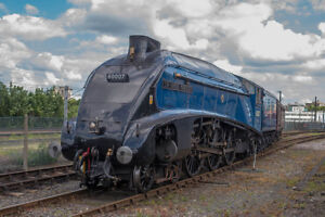 Large Canvas Of 60007, Sir Nigel Gresley, Blue, A4, Steam Train, Print, Photo