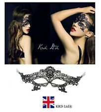 Stunning Masqeurade Venetian Lace Mask Black Eye Halloween Fancy Dress Party UK