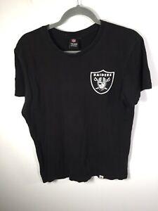 Raiders NFL Team Apparel mens black graphic t shirt size M short sleeve cotton
