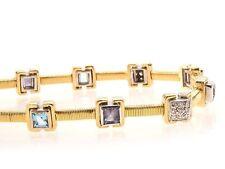 Echte Edelstein-Armbänder aus Gelbgold mit Amethyst für Damen
