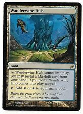 WANDERWINE HUB MAGIC THE GATHERING MTG LORWYN RARE 1X DUAL LAND LIGHT PLAY