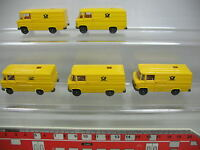 AF193-0,5# 5x Wiking H0 Transporter-Modell Mercedes-Benz MB 27 Post, NEUW