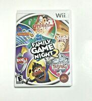 Hasbro Family Game Night 2 (Nintendo Wii, 2009) Tested CIB Includes Manual