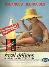 A- Publicité Advertising 1962 Limonade Soda Royal Délices par Fournier Vittel