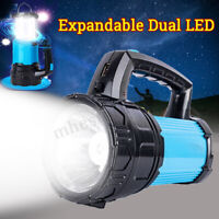 15000LM Solar Power / USB Spotlight Torch Collapsible Lantern Camping Light