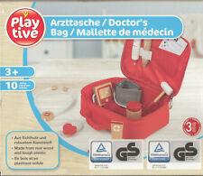 Kinder Arzttasche Holz Doktorkoffer Echholz Spielkoffer Spielzeug TÜV geprüft