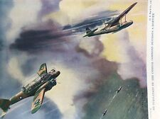m17a4 ephemera 1920s book plate r a f avro anson coastal command in dogfight