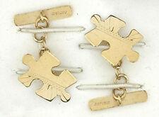 Gold Cufflinks Jigsaw Cufflinks 9ct Solid Yellow Gold Cufflinks