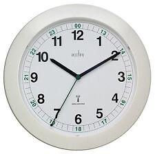 Acctim 93/723rc Milan Radio Controlled Wall Clock, White