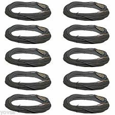 10PACK 1/4 male plug mono TO 3pin XLR FEMALE 15ft foot mic microphone cable cord
