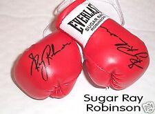 Autografiada Mini Guantes De Boxeo Sugar Ray Robinson