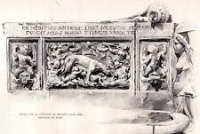 MESSINA: Fontana di Piazza Duomo,2. Sicilia.Sicily.PASSEPARTOUT.CERTIFICATO.1895