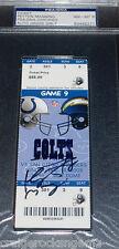 Peyton Manning Signed 2005 Colts Ticket Stub AUTO PSA/DNA