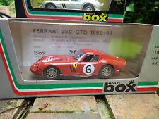 MODEL BOX FERRARI 250 GTO TOURIST TROPHY 1962 ref 8404 état neuf dans sa boite