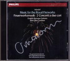 John Eliot GARDINER Signiert HANDEL Royal Fireworks Concerto CD Feuerwerksmusik