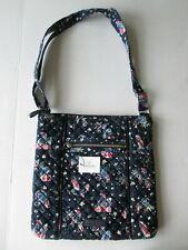 "NWT-$68 Vera Bradley Iconic Hipster Crossbody Handbag-Holiday Owls-Navy Blue-12"""