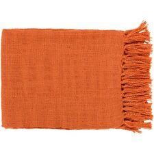 Tilda by Surya Throw Blanket, Coral - TID002-5951