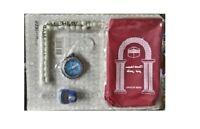 Portable Waterproof Pocket Muslim Prayer Rug Mat,Compass,Pouch,Tasbi,Counter