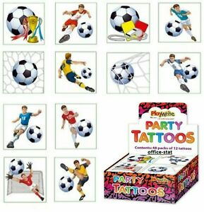 Kids Football Soccer Tattoos Childrens Party Bag Fillers Boys Temporary Tattoo