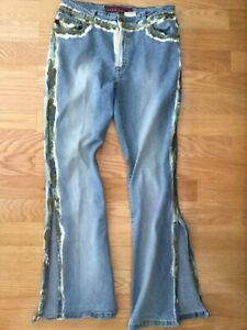 PARASUCO JEANS Made in ITALY Vintage 5 Pocket Distressed Faded JEANS sz 34x32