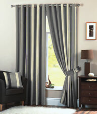 """One Pair of Whitworth Eyelet Header Curtains in Charcoal Size 66x72"""" (168 X 18"""