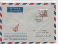 czechoslovakia 1947 airmail stamps cover ref 19642