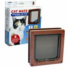 Pet Mate 2 Way Locking Cat Flap + Door Liner Brown - 234B