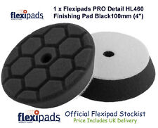 "Flexipads PRO Detail Hex 100mm, 4"" HL460 Black Finishing Pad New Design Free P&P"
