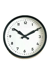 Vintage Retro Railway Office School Factory Style Wall Clock 25CM in 2 colours