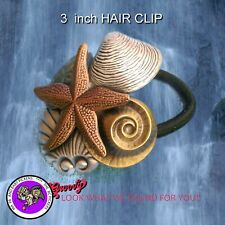 Sea Shell Collage Hairband Multi Color Med. Hand Crafted Metal Made in the USA