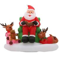 5 ft. Story Time with Santa Scene Christmas Inflatable
