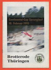 Orig.PRG    Skisprung Continental Cup BROTTERODE (Deutschland) 1995  !!  SELTEN