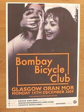 Bombay Bicycle Club - Glasgow dec.2009 tour concert gig poster