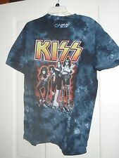 Kiss Logo On Smoky Bluegray Tie Dye T-Shirt SZ Large BRAND NEW W/TAGS
