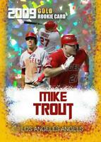 2009 Mike Trout Gold Cracked Ice Rookie Limited Edition Card L.A. Angels