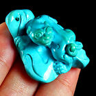 WOW Rarest 70CT 100% Natural Sleeping Beauty Turquoise Pixiu Carving Pendant