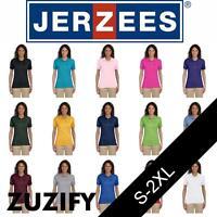 JERZEES Ladies Spotshield 50/50 Polo Shirt. 437WR