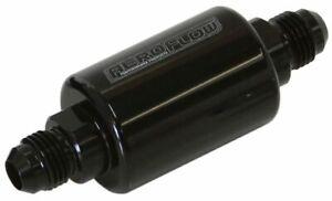 """Aeroflow AF66-2052BLK Filter 40 Micron Black -6an 1.25""""x3"""""""